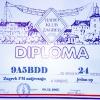 ZG FM Contest 2007. Diploma za 24. mjesto u kategoriji jedan operator