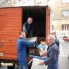 S desna na lijevo: Ivica 9a2yc, iza njega Mato 9a3sm, pa ja i u kamionu je Stjepan 9a7pls